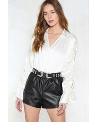Nasty Gal | Run It Vegan Leather Shorts | Lyst