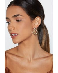 Nasty Gal - Diamonds In The Sky Hammered Earrings - Lyst