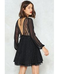 Nasty Gal - Lace Pleated Mini Dress Lace Pleated Mini Dress - Lyst