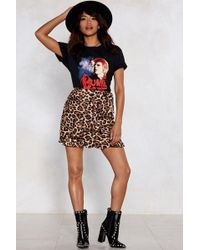 Nasty Gal - Leopard Late Wrap Skirt - Lyst