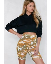 Nasty Gal - Stand To Attention Camo Shorts - Lyst