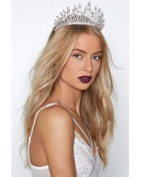 Nasty Gal - Snow Queen Crystal Crown - Lyst