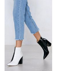 """Nasty Gal - """"double Take Two-tone Boot"""" - Lyst"""