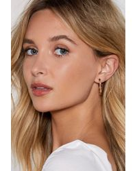 """Nasty Gal - """"safe And Round Tortoiseshell Earrings"""" - Lyst"""
