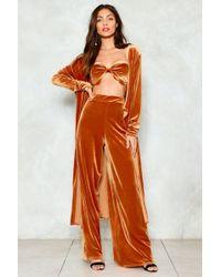 Nasty Gal - Magic Number Velvet Top Pants And Jacket Set - Lyst