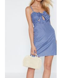 Nasty Gal - Want Don't Be Jelly Woven Basket Bag - Lyst