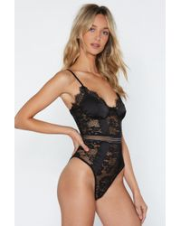 """Nasty Gal - """"you Haven't Seen The Lace Of Me Bodysuit"""" - Lyst"""