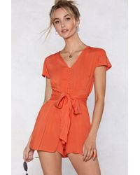 "Nasty Gal - ""button Through The Good Times Romper"" - Lyst"