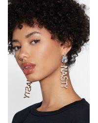 Nasty Gal - Nasty Diamante Earrings - Lyst