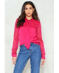 Nasty Gal - Don't Bow It Pussybow Blouse - Lyst