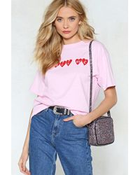 Nasty Gal - Want Don't Be A Quitter Glitter Crossbody Bag - Lyst
