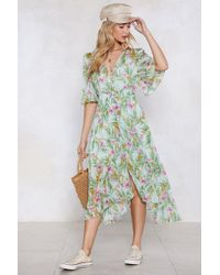 Nasty Gal - I'm Pollen Your Leg Floral Dress - Lyst
