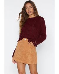 Nasty Gal - Cable Knit Jumper - Lyst