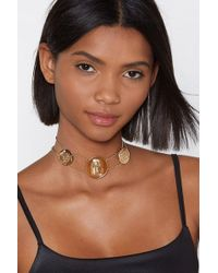 Nasty Gal - Walk Like An Egyptian Coin Necklace - Lyst