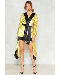 Nasty Gal - So Wrapped Up Kimono Dress - Lyst
