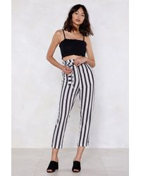 Nasty Gal - Give It To Me Straight Striped Pants - Lyst