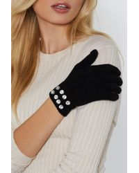 """Nasty Gal - """"diamantes Are A Girls Best Friend Knit Gloves"""" - Lyst"""