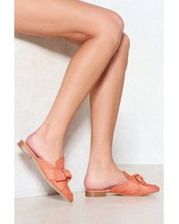 Nasty Gal - Bow Down Mule - Lyst