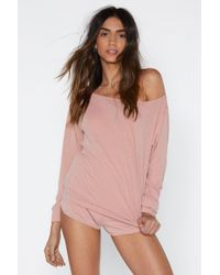 Nasty Gal - Cool Your Jets Jersey Top And Shorts Lounge Set - Lyst