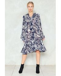 Nasty Gal - Grow See The World Floral Dress - Lyst