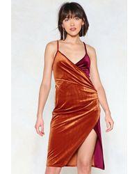 Nasty Gal - Switch Sides Velvet Dress - Lyst