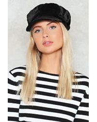 bab69c75976 Nasty Gal - Velvet Newsboy Hat Velvet Newsboy Hat - Lyst