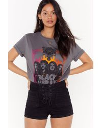 """Nasty Gal - """"gotta Get Out Of This Lace-up Denim Shorts"""" - Lyst"""