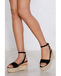 Nasty Gal - Build You Up Wedge Sandal - Lyst