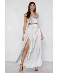 Nasty Gal - Give Us Your Two Cents Crop Top And Maxi Skirt - Lyst
