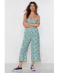 Nasty Gal - What's The Plant For Tonight Jumpsuit - Lyst