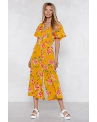 Nasty Gal - Always Wanting Floral Culotte Jumpsuit - Lyst