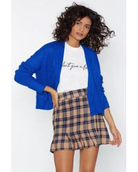 """Nasty Gal - """"do As You Pleat Check Skirt"""" - Lyst"""