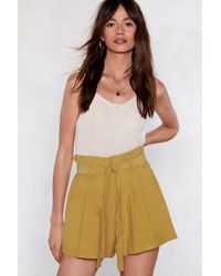 Nasty Gal - Don't Bag Down Paperbag Shorts - Lyst