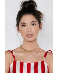 Nasty Gal | Off The Chain Layered Necklace | Lyst