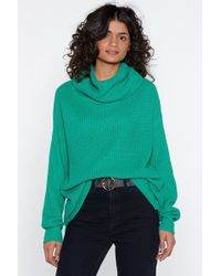 Nasty Gal - Stay With Knit Turtleneck Sweater - Lyst