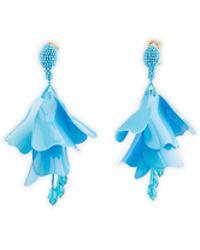 Oscar de la Renta - Earrings Flower Blue - Lyst