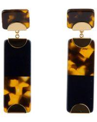 Tory Burch - Block Drop Earrings - Lyst