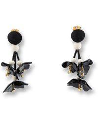 Oscar de la Renta - Falling Flower Earring - Lyst