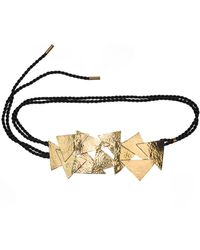 Natori - Josie Hammered Brass Buffed Belt - Lyst
