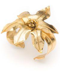 Natori - Josie Brass Floral Bracelet - Lyst