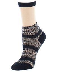 Natori - Nouveau Sheer Crew Socks - Lyst