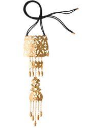 Natori - Hammered Gold Crown Necklace - Lyst