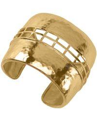 Natori - Josie Gold Brass Cage Bracelet - Lyst