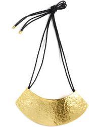 Natori | Gold Geo Necklace | Lyst
