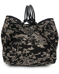 Natori - Josie Pagoda Embroidery Large Bag - Lyst