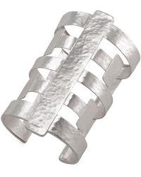 Natori - Silver Geo Cuff - Lyst