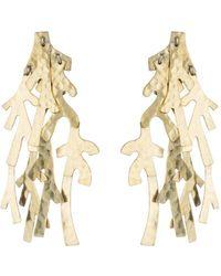 Natori | Josie Hammered Brass Earrings | Lyst
