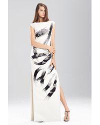 Natori - Duchess Satin Boatneck Dress - Lyst