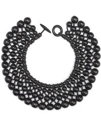 Natori - Josie Four Layer Beaded Necklace - Lyst