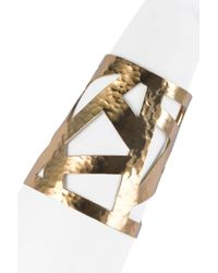 Natori - Josie Geometric Gold Cuff - Lyst